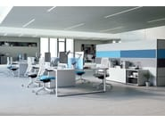 Height-adjustable task chair with 5-Spoke base with casters WHY 321-SYS - LD Seating