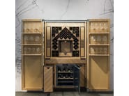 Wooden bar cabinet WINE TOWER - TONCELLI CUCINE