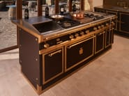 Lacquered kitchen with island WINERY - Officine Gullo