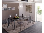 Extending rectangular steel dining table WING - Ozzio Italia