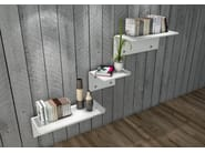 Solid Surface® wall shelf WINGS - Zuri Design