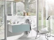 Single wall-mounted vitrified enamelled steel vanity unit WP.FOLIO3 - ALAPE