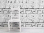 Carta da parati a motivi ALMOST WHITE PHOTOCOPY BOOKSHELF - Mineheart