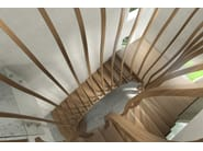Solid wood cantilevered staircase WAVE - Siller Treppen
