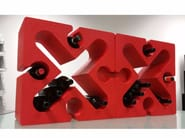 Tavolino / portabottiglie in Poly Mass® X PUZZLE - Be Different