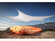 Polyester bean bag X-XL SQUARE - XPOUF by EXPAND HOME DESIGN