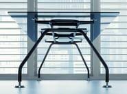 Rectangular glass executive desk XEON | Executive desk - BALMA