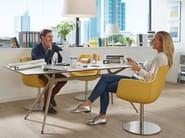 Swivel fabric easy chair with armrests XIS BEENIE - SMV Sitz- und Objektmöbel