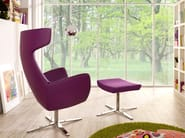 Wingchair with 4-spoke base with armrests XIS WING - SMV Sitz- und Objektmöbel