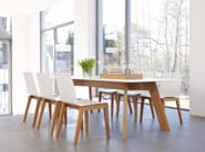 Rectangular HPL dining table Y-WOMEN - conmoto by Lions at Work
