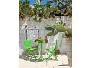 Contemporary style folding glass-fibre garden chair ZAC - Nardi