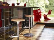 Swivel height-adjustable wooden stool ZEB STOOL WOOD - Vitra