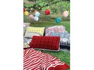 Check velvet fabric with graphic pattern ZEN - LELIEVRE