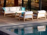 Upholstered 3 seater fabric garden sofa ZENHIT | 3 seater sofa - ROYAL BOTANIA