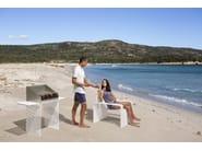 Galvanized steel garden armchair / outdoor chair ZEROQUINDICI.015 | Garden armchair - Diemmebi