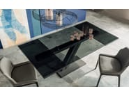 Extending rectangular crystal table ZEUS DRIVE - Cattelan Italia