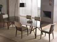 Tavolo rettangolare in legno e vetro ZEUS | Tavolo rettangolare - Pacini & Cappellini