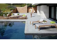 Aluminium garden armchair with armrests ZIDIZ   Garden armchair - ROYAL BOTANIA