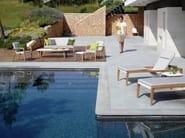 Fabric garden bench with armrests ZIDIZ | Garden bench - ROYAL BOTANIA