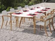 Rectangular ceramic garden table ZIDIZ | Rectangular table - ROYAL BOTANIA