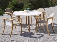 Round ceramic garden table ZIDIZ | Round table - ROYAL BOTANIA