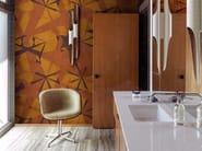 Motif waterproof glass-fibre wallpaper ZULU - Wall&decò