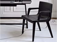 Leather chair with armrests ACANTO '14 | Chair with armrests - Maxalto, a brand of B&B Italia Spa