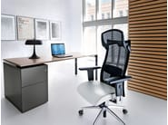 Swivel task chair with 5-Spoke base with armrests ACTION 115SFL - profim
