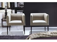 Upholstered fabric easy chair with armrests ADELE - FRIGERIO POLTRONE E DIVANI