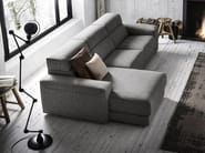 Fabric sofa with chaise longue AJAR | Sofa with chaise longue - Felis