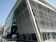 Motorized adjustable aluminium solar shading ALA - GATTI PRECORVI