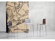 Technopolymer stool ALICE H65 - SCAB DESIGN