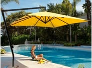 Offset adjustable square Garden umbrella AMALFI | Square Garden umbrella - Michael Caravita