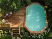 Above-Ground pine Swimming Pool Kit AMBRA - ALCE