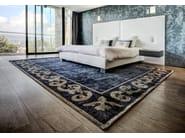 Handmade rectangular custom rug AMIRAL FRAME - EDITION BOUGAINVILLE