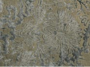 Patterned handmade rectangular rug ANGUILLA LIGHT GREY - EDITION BOUGAINVILLE