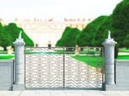 Swing Motorized iron gate ARABESQUE 2656 - Fabbridea