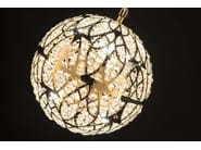 LED steel pendant lamp with crystals ARABESQUE EARTH - VGnewtrend