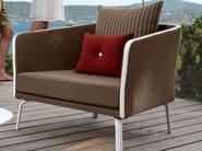 Fabric garden armchair with armrests MILO | Armchair - Talenti