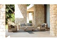 Garden armchair with armrests ALABAMA | Armchair - Talenti