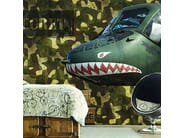 Motif washable nonwoven wallpaper ARMY - CREATIVESPACE