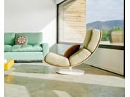 Upholstered leather armchair ART | Leather armchair - SANCAL