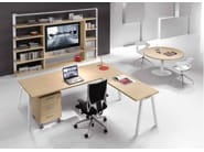L-shaped wooden office desk ATREO | Office desk - Castellani.it