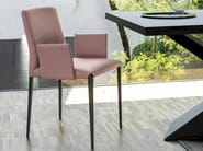 Upholstered chair with armrests AURORA | Chair with armrests - RIFLESSI