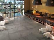 Wall/floor tiles with concrete effect AZIMUT CHAUD - NOVOCERAM