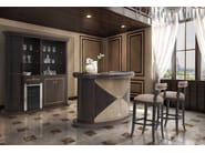 Lacquered wood veneer bar cabinet PLAZA | Bar cabinet - Formitalia Group