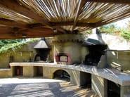 Travertine barbecue Barbecue 16 - Garden House Lazzerini
