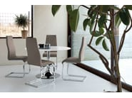 Cantilever upholstered high-back chair BART-S - DOMITALIA