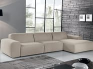 Fabric sofa with chaise longue BAZAR | Fabric sofa - Max Divani