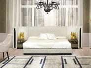 Leather double bed with upholstered headboard ROYAL | Bed - Formitalia Group